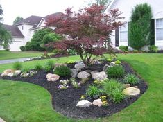 Front Yard Landscaping Professional landscaping and design company serving Montgomery County, PA. Home Landscaping, Landscaping With Rocks, Landscaping Design, Landscaping Around Trees, Small Front Yard Landscaping, Landscaping Software, Garden Landscape Design, House Landscape, Landscape Designs