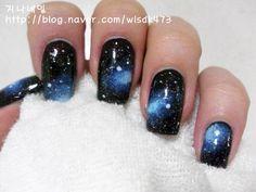 지나네일no.37 갤럭시 네일아트(우주 네일아트) : 네이버 블로그