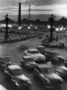 Place de la Concorde Paris 1950 by Alfred Tritschler