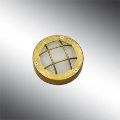 Applique murale/plafonnier LED aluminium/laiton étanche IP65 avec grille | COBUS B | Extérieur - Applique - Luminaire LED - Bel-lighting