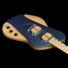 Sauvage Guitars One-Piece Master III Electric Guitar Natural and Aquamarine Blue