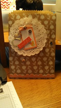 This is the bag that came in the Mini Memories Simply Created Album Kit. I got the idea for this from the Stampin' Up! site!