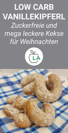 Zuckerfreie Vanillekipferl (Low Carb) - These low carb vanilla biscuits are sugar-free and ideal for a diet. Here you will find the complet - Easy Smoothie Recipes, Healthy Smoothies, Healthy Snacks, Snack Recipes, Slow Cooker Recipes, Low Carb Recipes, Coconut Recipes, Healthy Recipes, Vanilla Biscuits