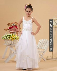 Awesome - Organza Beading Spaghetti Straps Flower Girl Dress. I want thicker straps for my girls. | CHECK OUT MORE GREAT FLOWER GIRL AND RING BEARER PHOTOS AND IDEAS AT WEDDINGPINS.NET | #weddings #wedding #flowergirl #flowergirls #rings #weddingring #ringbearer #ringbearers #weddingphotographer #bachelorparty #events #forweddings #fairytalewedding #fairytaleweddings #romance