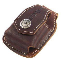 Leather Belt Holder for Zippo Lighters (Brown)