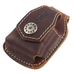 Leather Belt Holder for Zippo Lighters (Brown)