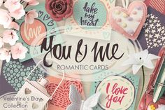 Vector romantic cards collection - Graphics