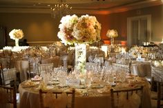 Vintage Wedding Reception Decorations black and champagne   ... complimented the champagne tones with their magnificent floral decor