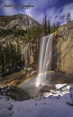 Snowy Rainbow... Vernal Falls, Yosemite National Park, CA,