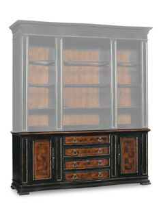 Hooker Furniture Grandover Black With Gold Accent 59u0027u0027L X 18u0027u0027W Rectangular  Mirrored Back Console Table | Family Room | Pinterest | Hooker Furniture,  ...