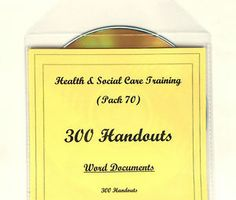 300 HANDOUTS on CD Health and Social Care Teaching Training Resources