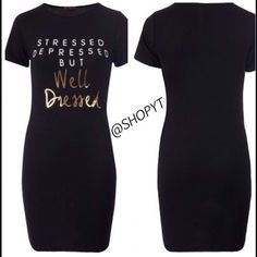 Stressed, Depressed But Well Dresses Dress Comfy and cute cotton dress Dresses Midi