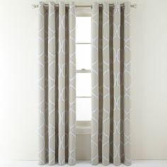 """jcpenney.com-MARTHA WINDOW Turning Point Grommet-Top Curtain Panel in Lead-50""""W x 95""""L-$53.99 each for 2 or more."""