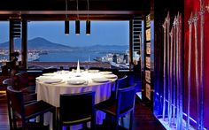 Fine dining with stunning views  http://worldhotelsandresorts.net/hotel-romeo-naples/