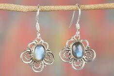 Labradorite Jewellery – Labradorite Earrings, Gift for Her, Silver Earring – a unique product by ArtisanJewellery on DaWanda