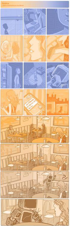 Estática | Quadrinhos de Gus Morais