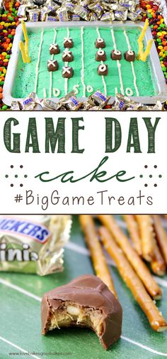 Are you ready for some football?! This Game Day Cake will be the talk of your party - and it's easy to put together too! #BigGameTreats #ad