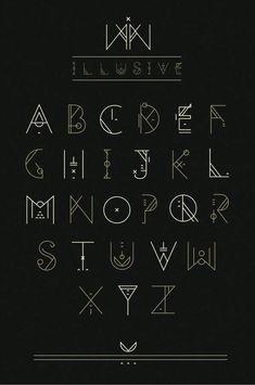 Illusive by shoelesspeacock on DeviantArt Calligraphy Fonts, Typography Fonts, Typography Design, Art Deco Typography, Caligraphy Alphabet, Hand Lettering Alphabet, Font Styles Alphabet, Letras Cool, Schrift Design