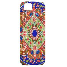 A vintage decorative Russian colorful pattern background, An abstract Russian ornament pattern of the Tadjik. This folk fine art floral design features various bright colors, red, blue, yellow and ornate patterns. with swirls abstract shapes, round shapes and other traditional shapes. a trendy pattern in fashion.