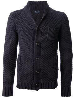 Drumohr chunky knit cardigan | mens chunky knit sweater | navy merino wool | mens cardigan | wantering