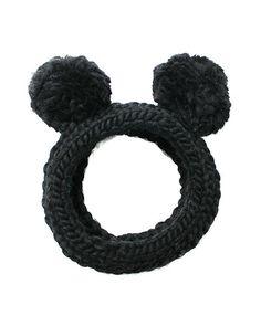 D0ZH8 Eugenia Kim Mies Chunky Hand-Knit Headband w/Pom Poms $115