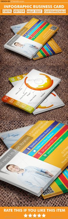 InfoGraphic Business Card Template by Ramzi Hachicho, via Behance ...