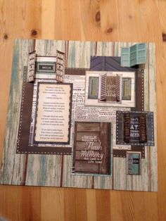 My scrapbook layout using a poem about smiling rather than a photograph.  Papers used are Kaisercraft Blue Bay.
