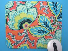 Mouse Pad / Mousepad / Fabric Mousepad     by GilmoreCreations