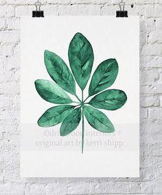 Tropical Leaves Watercolour Art Prints