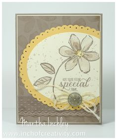 Inch of Creativity: Creation Station Blog Hop: Floral Stamp set: Garden in Bloom from Stampin' Up! SU Garden In Bloom #stampinup #inchofcreativity #gardeninbloom