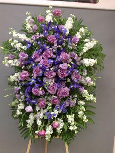 Flower Wreath Funeral, Funeral Flowers, Funeral Floral Arrangements, Large Flower Arrangements, Angel Wings Decor, Casket Flowers, Sympathy Flowers, Fresh Flowers, Memorial Day