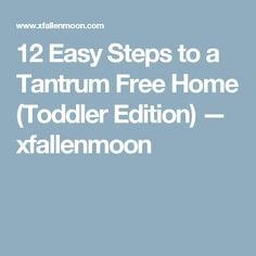 12 Easy Steps to a Tantrum Free Home (Toddler Edition) — xfallenmoon Peaceful Parent Happy Kids, Peaceful Parenting, Gentle Parenting, Toddler Chores, Toddler Fun, Parenting Toddlers, Parenting Hacks, Learning Patience, Tired Of People
