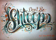Selected Typography by Travis W. Simon, via Behance