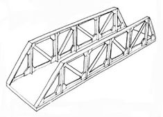 Central Valley Model Works 200' Double Track Truss Bridge