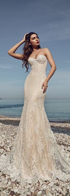 """The 2017 """"The Heart of The Ocean Collection"""" bridal collection by Lanesta features delicately beautiful wedding dresses with a sophisticated flair. Stunning Wedding Dresses, Wedding Dresses 2018, Cheap Wedding Dress, Beautiful Dresses, Wedding Beauty, Dream Wedding, Perfect Bride, Belle Photo, Dream Dress"""