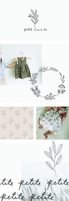 Branding for Petite Lou and co by Ryn Frank, super pretty girly graphics | /cassiedulworth/