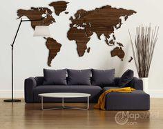 Com exclusive wooden world wall maps деревянные стены, стена с зая Interior Design Living Room, Living Room Decor, Deco Nature, Wood Sofa, Wall Maps, My Room, Wall Decor, House Design, Furniture