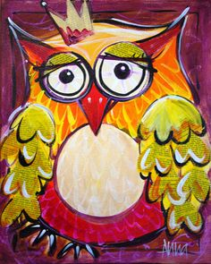 Image of Paint Along - Owls ENCORE - ONE SESSION ONLY