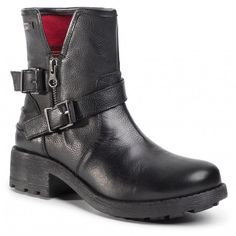 Botki LES TROPEZIENNES - Laurina 22318 Black - Botki - Kozaki i inne - Damskie   eobuwie.pl Biker, Metal, Boots, Black, Fashion, Crotch Boots, Moda, Black People, Heeled Boots