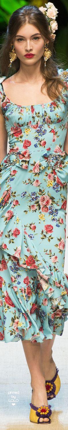 Dolce & Gabbana Spring 2017 RTW | LOLO❤︎
