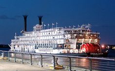 steamboats at Mississippi River in Minessota and La Crosse, Wisconsin