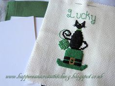 Hi everyone, it's St Patricks Day today so I thought I would stitch the freebie I designed, unfortunately I was hoping to get it fini...