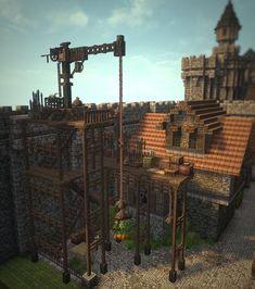– Gleiskind 2015 - Minecraft World Château Minecraft, Villa Minecraft, Minecraft Kingdom, Minecraft Building Guide, Minecraft Structures, Minecraft Survival, Minecraft Construction, Amazing Minecraft, Minecraft Tutorial
