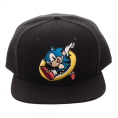 9eb8f7facfa SEGA Sonic the Hedgehog Coin Snapback Hat Cap Officially Licensed Black  OSFM  Bioworld  BaseballCap
