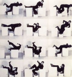 Bruce McLean, Pose Work for Plinths 3, 1971. More Moore inspired work. These are such a witty response to the prevailing views about sculpture from the 60s and 70s.