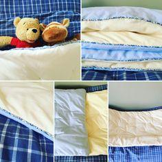 Edredon pour décoration chambre bébé bleu-blond-rose.alittlemarket.com