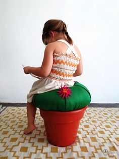 Ohoh Blog - diy and crafts: DIY Cactus stool