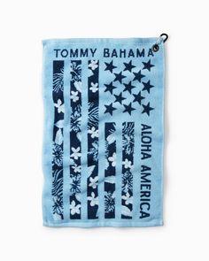 Aloha America Jacquard Golf Towel Golf Towels, Hole In One, Island Life, Tommy Bahama, Stripes, America, Swings, Florals, Meet