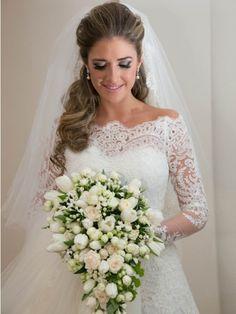 Elegante Hochzeitskleid Spitze