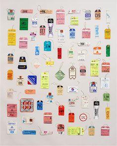 Souvenir Stories: Our Editors' Favorite Travel Mementos - Condé Nast Traveler Menorca, Vintage Luggage Tags, Vintage Suitcases, Hang Tags, Graphic Design Inspiration, Vintage Designs, Print Design, Design Design, Typography